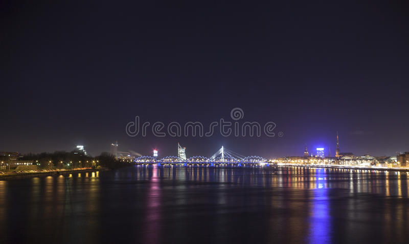 Panorama de Riga, Letonia, Europa fotos de archivo