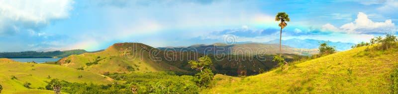 Panorama de Rinca images libres de droits