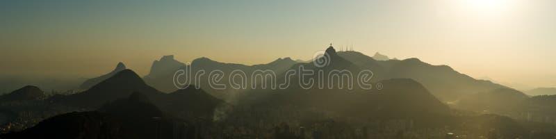Panorama de Rio de Janeiro photographie stock