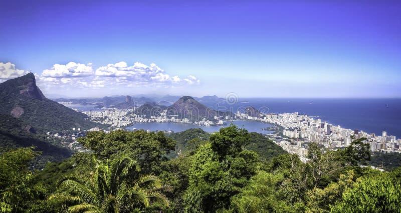 Panorama de Rio de janeiro, Brasil imagem de stock royalty free