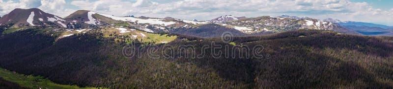 Panorama de Rocky Mountains Voyage à Rocky Mountain National Park Le Colorado, Etats-Unis photographie stock libre de droits