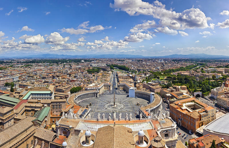 Panorama de Roma imagen de archivo