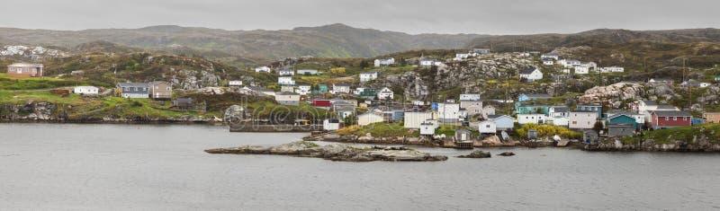 Panorama de Rose Blanche, Terra Nova imagem de stock royalty free