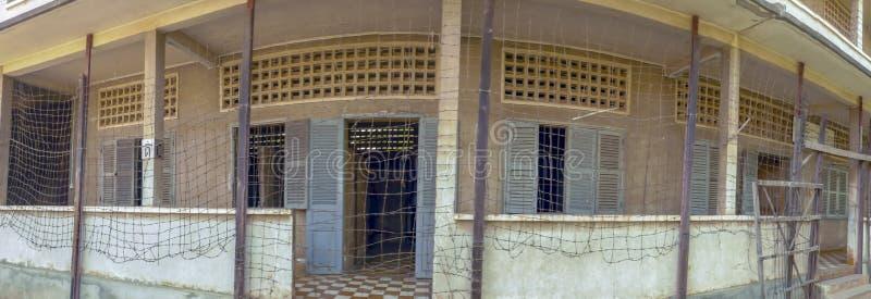 Panorama de S21 au musée de génocide de Tuol Sleng dans Phnom Penh Cambodge photo stock