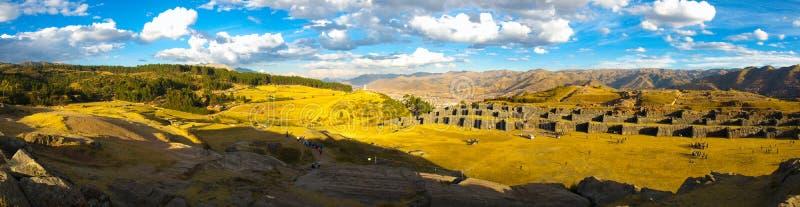 Panorama de Sacsayhuaman photos stock