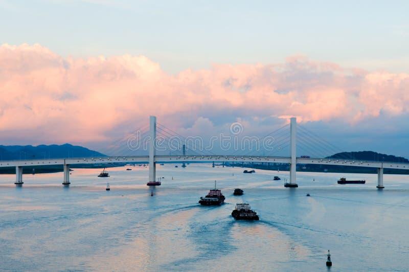 Panorama de Sai Van ponte foto de stock