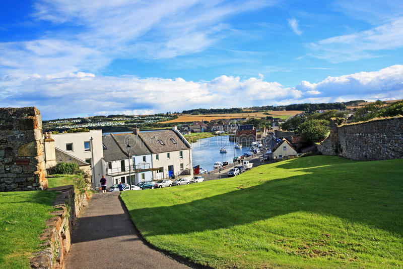 Panorama de Saint Andrews, Fife, Escocia imagen de archivo libre de regalías