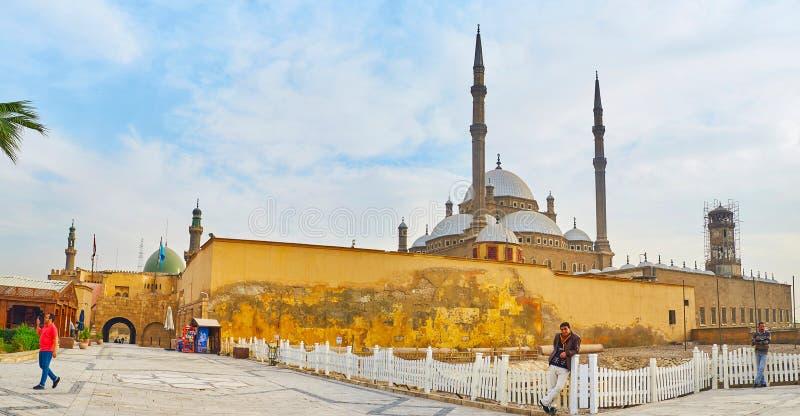 Panorama de Saladin Citadel, le Caire, Egypte photo stock