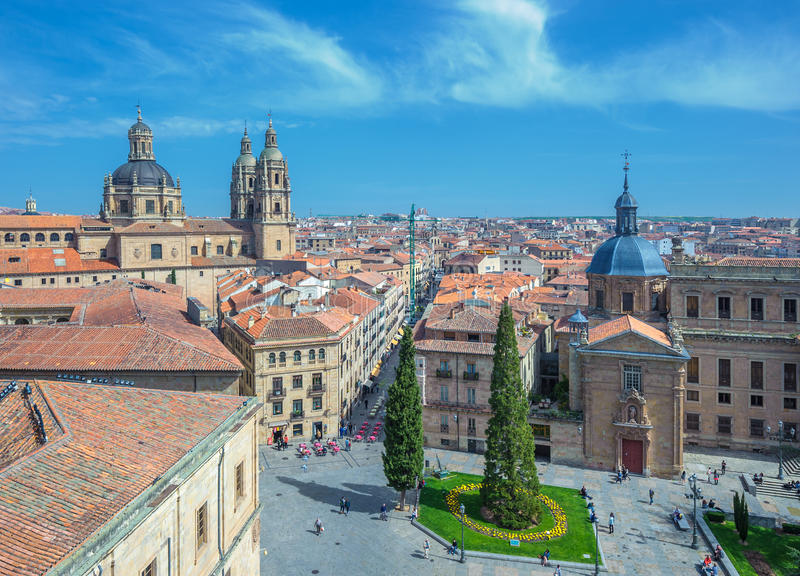 Panorama de Salamanka, España fotografía de archivo libre de regalías