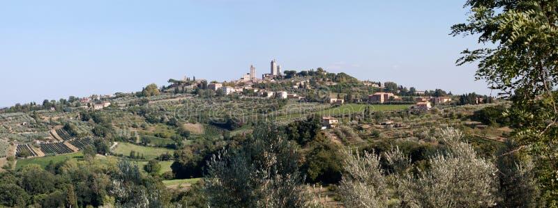 Panorama de San Gimignano foto de stock