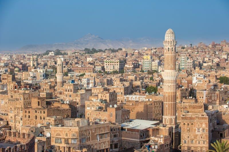 Panorama de Sanaa, Yémen photo libre de droits