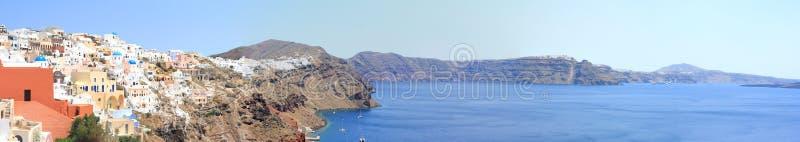 Panorama de Santorini fotografía de archivo libre de regalías