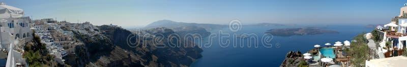 Panorama de Santorini fotografia de stock
