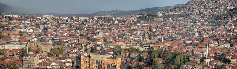Panorama de Sarajevo photos stock