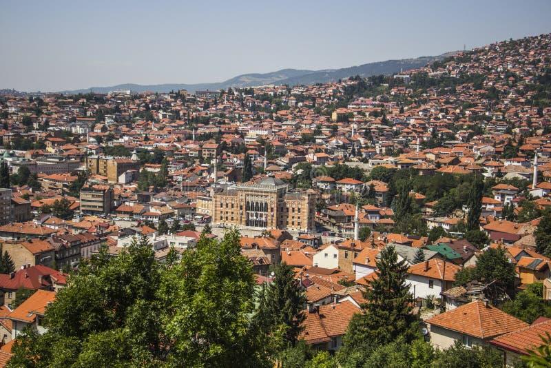 Panorama de Sarajevo photos libres de droits