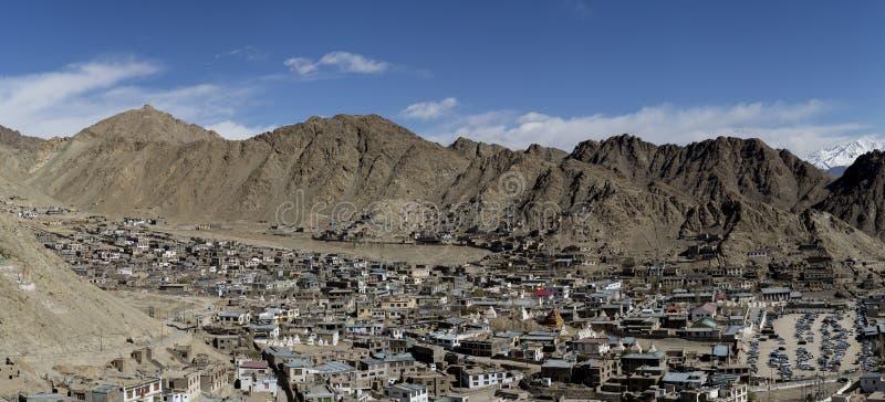 Panorama de Scenary de Leh dans Ladakh, Inde images libres de droits