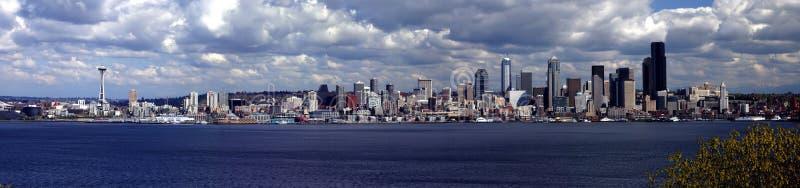Panorama de Seattle fotografia de stock