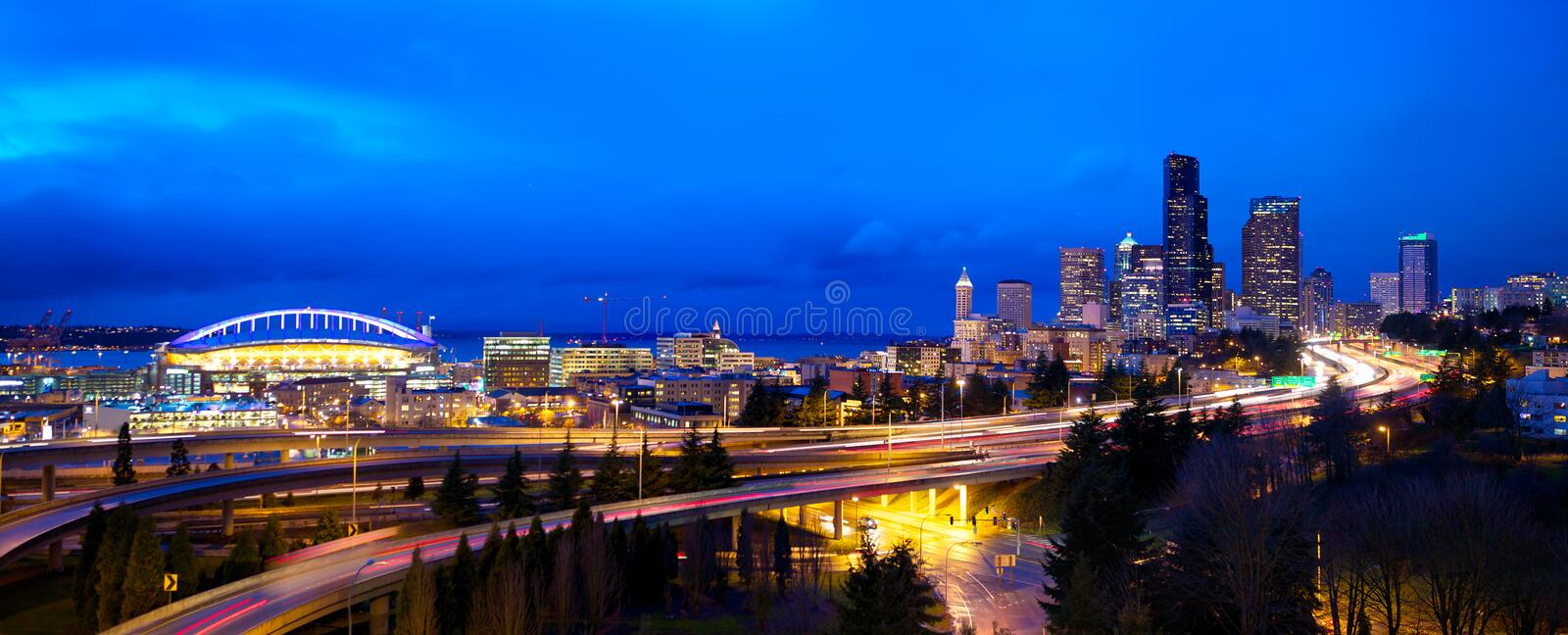 Panorama de Seattle fotos de stock royalty free