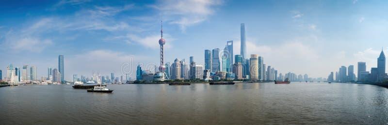 Panorama de secteur de Pudong - Changhaï, Chine photographie stock libre de droits