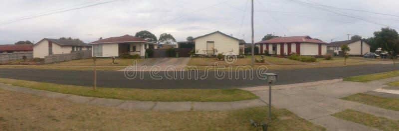 Panorama de secteur suburbain images libres de droits