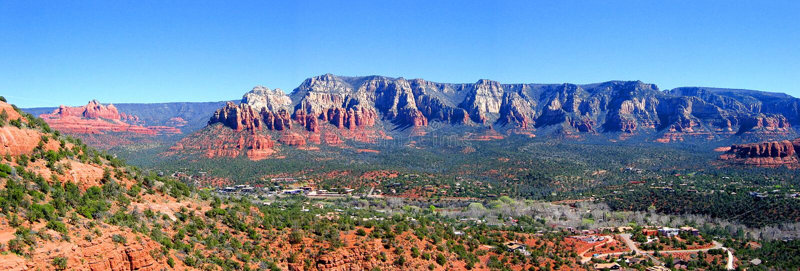 Panorama de Sedona o Arizona imagem de stock royalty free