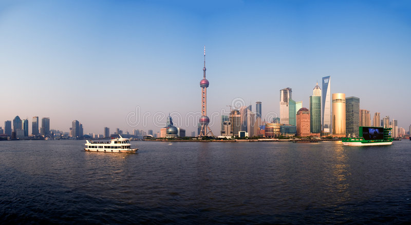 Panorama de Shanghai imagens de stock
