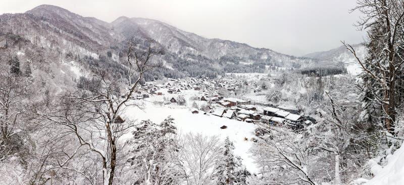 Panorama de Shirakawago images stock