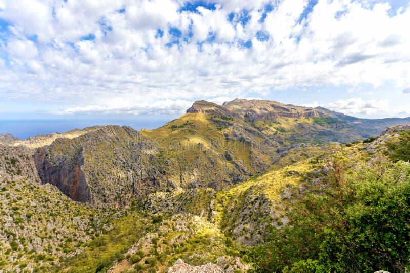 Panorama in de Siërra DE Tramuntana royalty-vrije stock foto