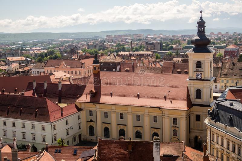 Panorama de Sibiu, la Transylvanie, Roumanie images stock