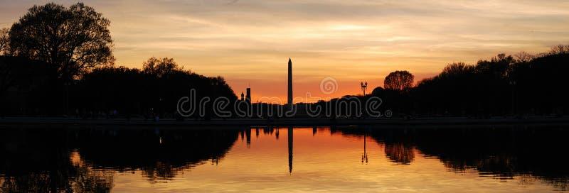 Panorama de silhouette de Washington DC photographie stock