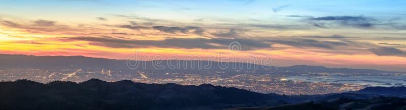 Panorama de Silicon Valley imágenes de archivo libres de regalías