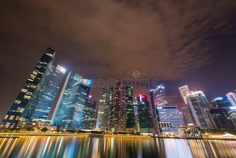 Panorama de Singapur fotos de archivo libres de regalías