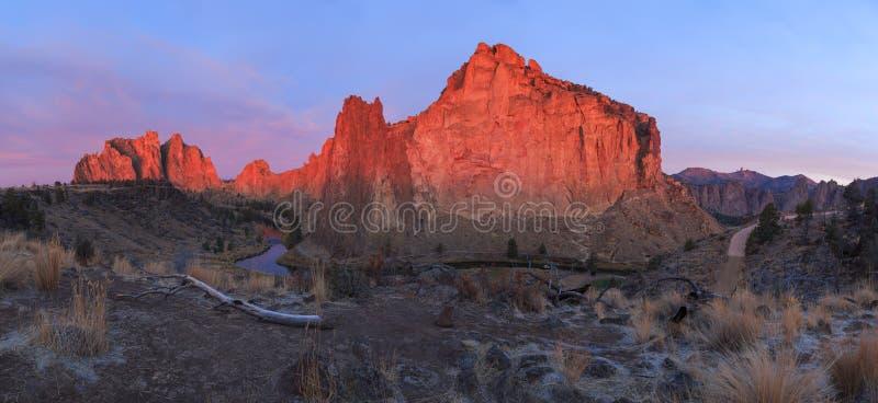Panorama de Smith Rock State Park photo stock