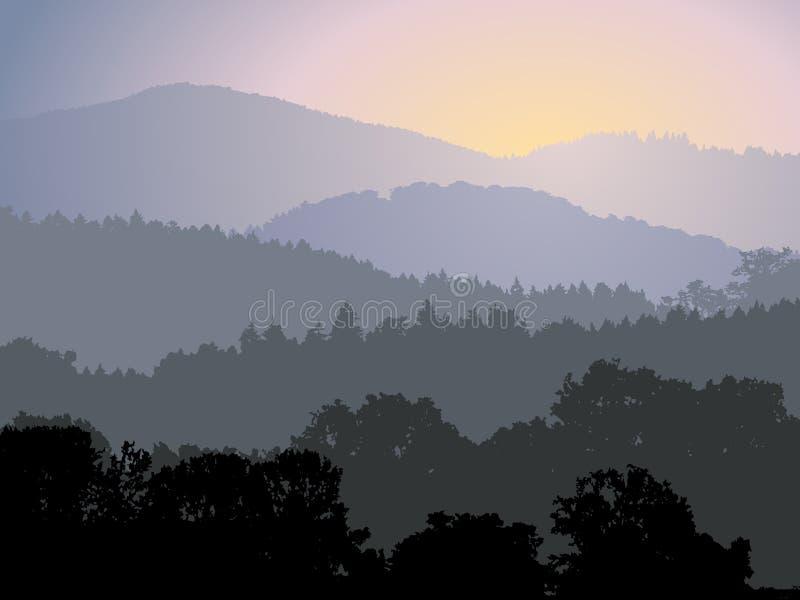 Panorama de soirée illustration de vecteur
