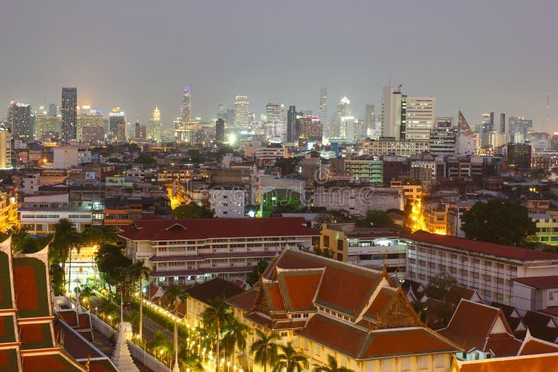 Panorama de soirée de Bangkok photos libres de droits