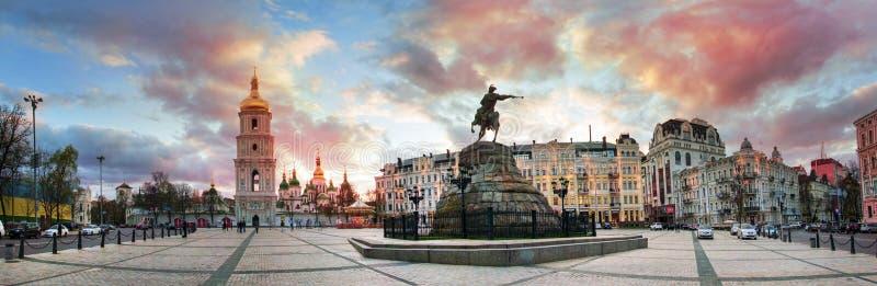 Panorama de soirée de Sofia image libre de droits