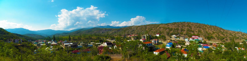Panorama de Solnechnogorsk de la montagne images stock