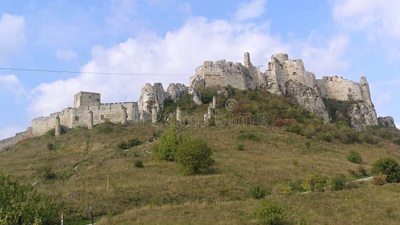 Panorama de Spissky Castelo-Eslováquia imagens de stock