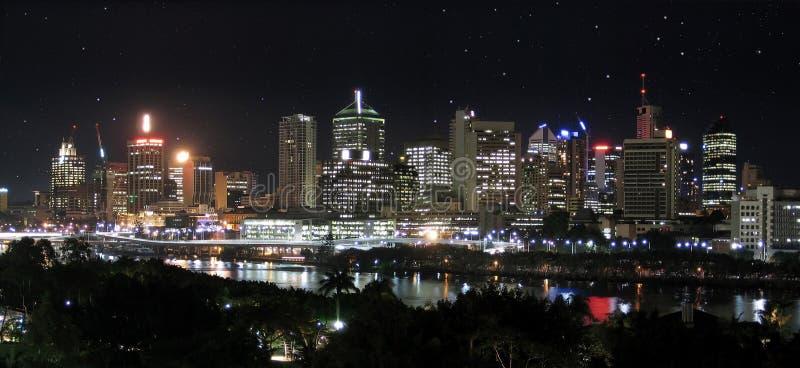 Panorama - de Stad + de Sterren van de Rivier stock afbeelding