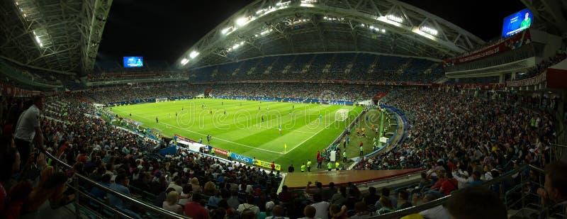 Panorama de stade de football image stock