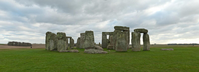 Panorama de Stonehenge fotografia de stock
