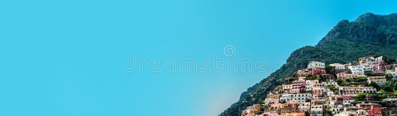 Panorama de stupéfier la côte Positano, Italie d'Amalfi photo libre de droits
