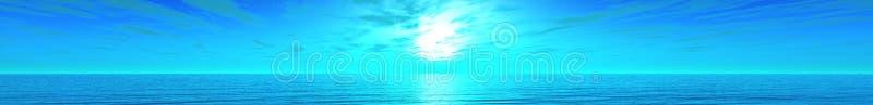 Panorama de sunse de mer photos libres de droits