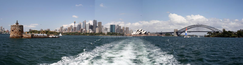 Panorama de Sydney imagen de archivo