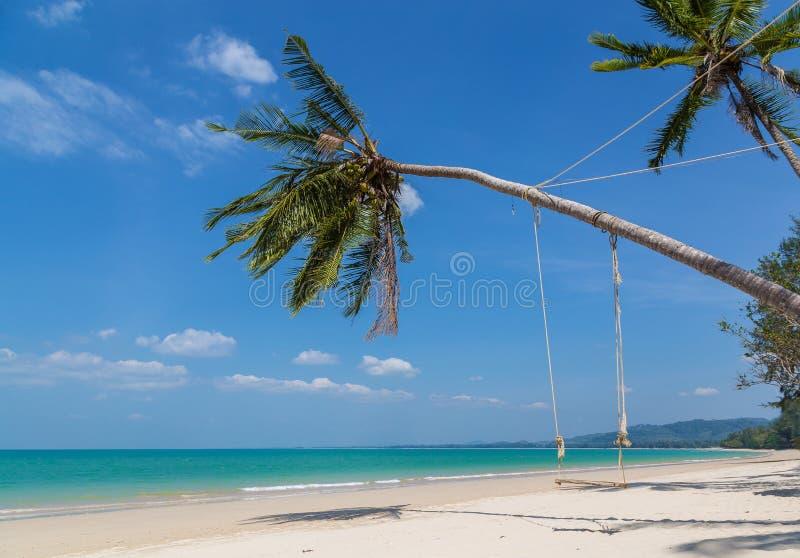Panorama de Tailandia de la playa de la arena de Khao Lak foto de archivo