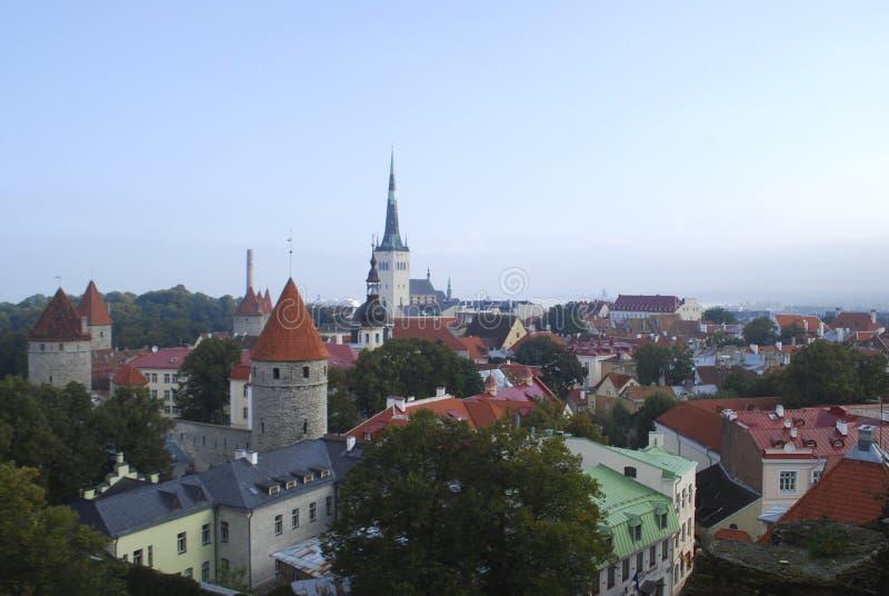 Panorama de Tallin imagem de stock