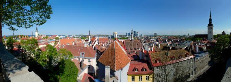 Panorama de Tallinn photos stock