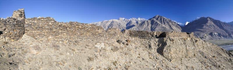 Panorama de Tayikistán fotos de archivo