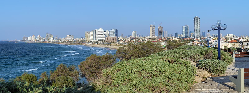 Panorama de Tel Aviv, Israel foto de stock