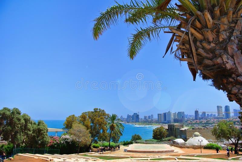Panorama de Tel Aviv de la ville de Jaffa l'israel 2013 image stock